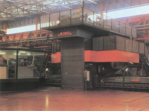 Cabina di controllo del laminatoio. Progetto dell'Arch. Marcello Cuneo, per l'involucro per laminatoi a caldo e a freddo di grandi dimensioni, per acciaio e alluminio