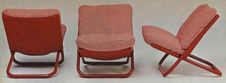 Cross easy chair, designed in 1974 by Arch. Marcello Cuneo for Arflex, (MI)