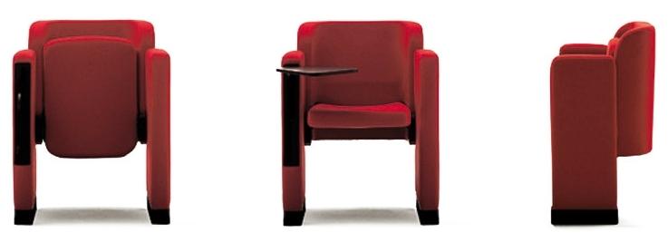 Poltrona Mac-T, la versione per ufficio e comunità. Progetto dell'architetto Marcello Cuneo, produzione Arflex
