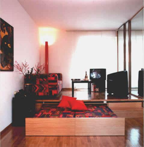 Studio flat furnishing in Le Corti Residence