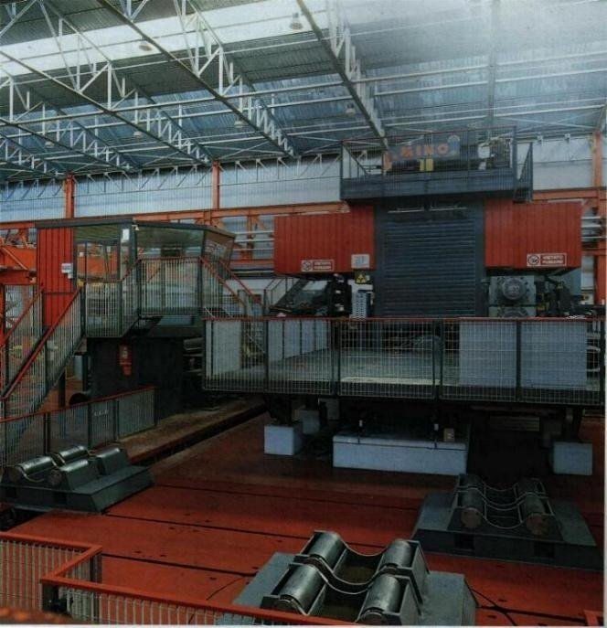 Hot rolling mill for steel